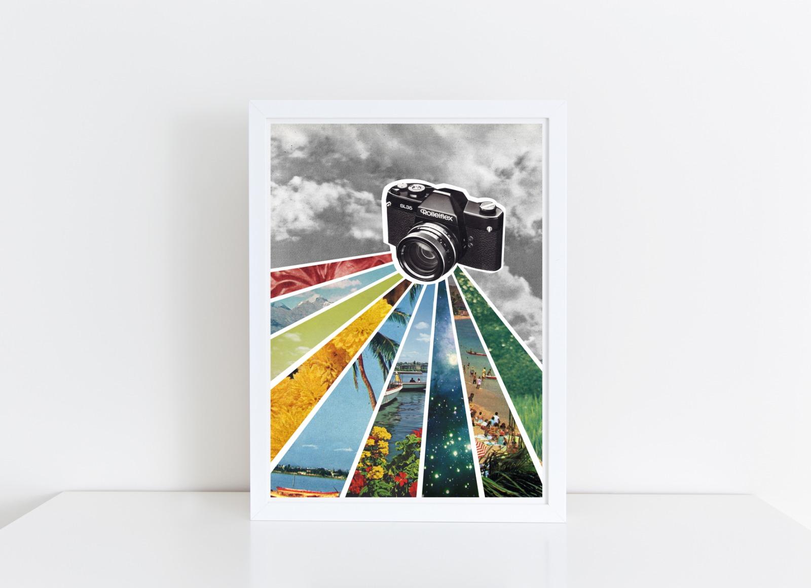 Analog Collage Poster Kunstdruck A4
