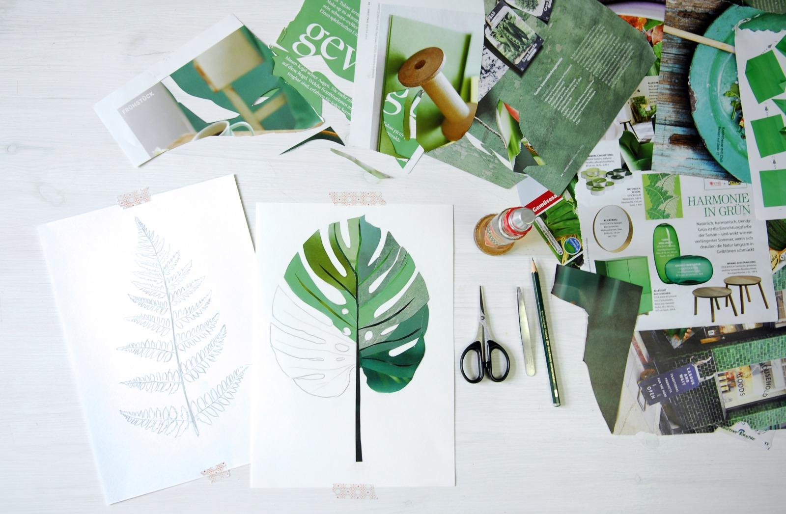Collage Eukalyptus Kunstdruck Pflanzenposter - 4