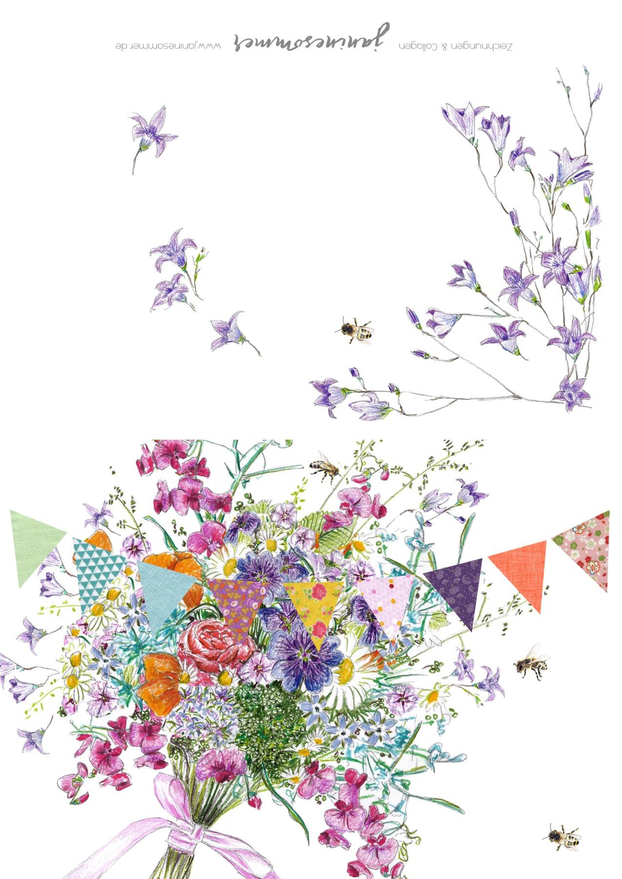 Grußkarte Sommerblumen Grußkarte 3