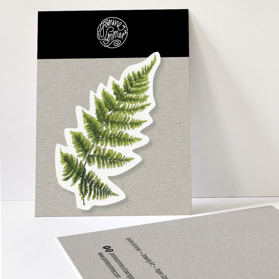 1 Sticker Farnblatt, Aufkleber Farn - 1