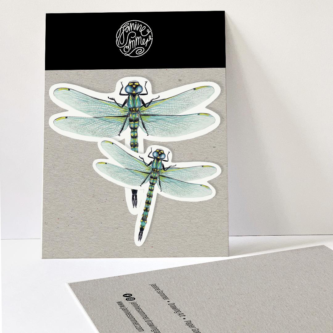 2 Sticker Libellen