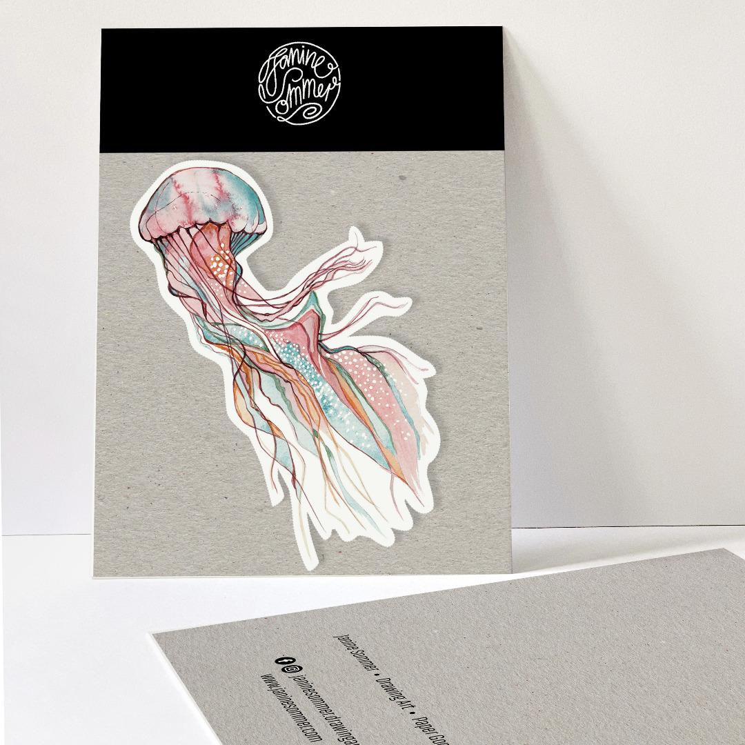 1 Sticker Jellyfish Aufkleber