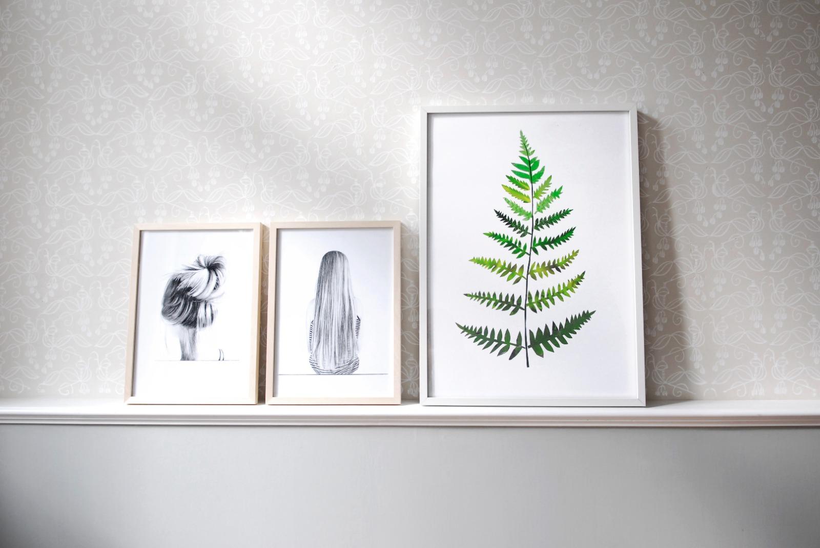 Collage Farn Farnposter Kunstdruck Pflanzenposter - 3