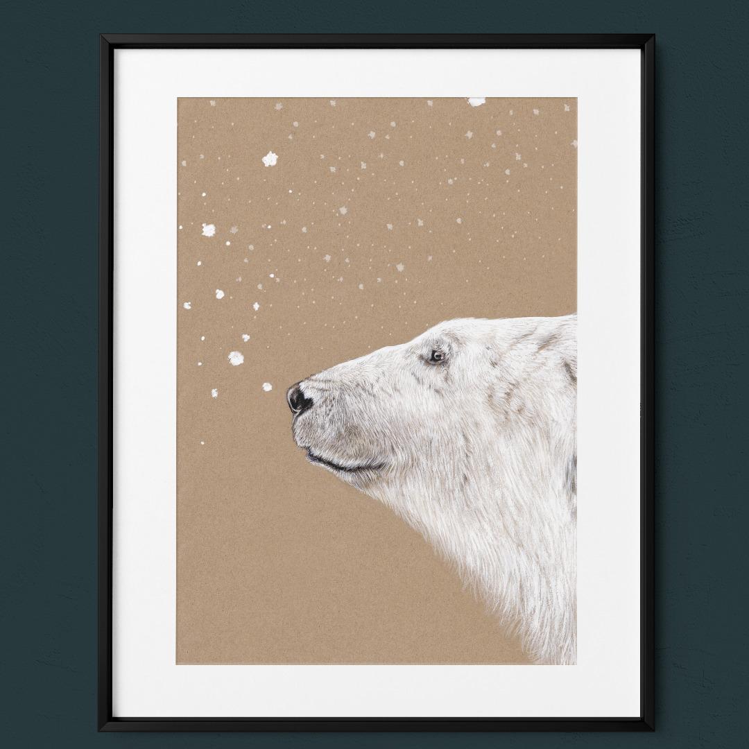 Polarbär Eisbär Poster Kunstdruck 5