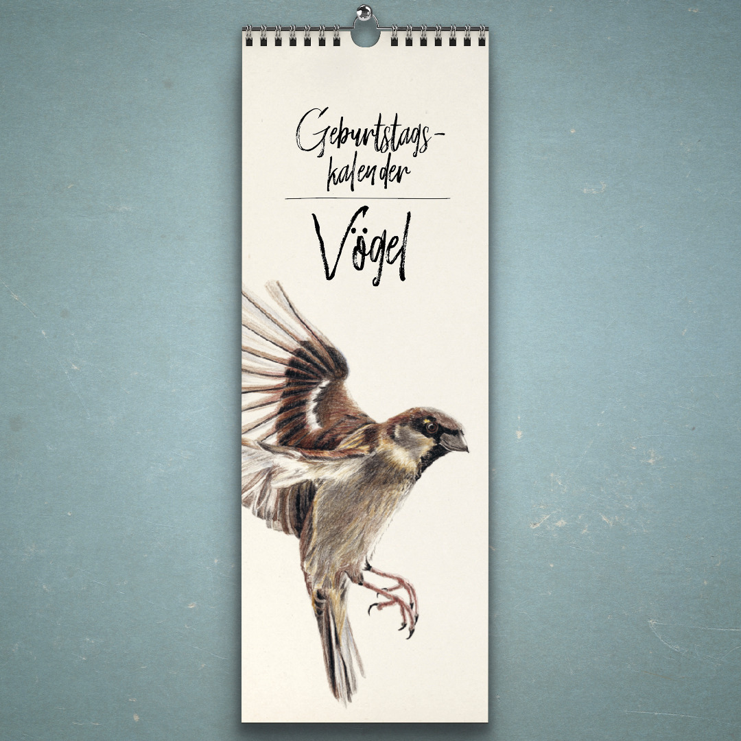 Geburtstagskalender Vögel Wandkalender Kunstkalender