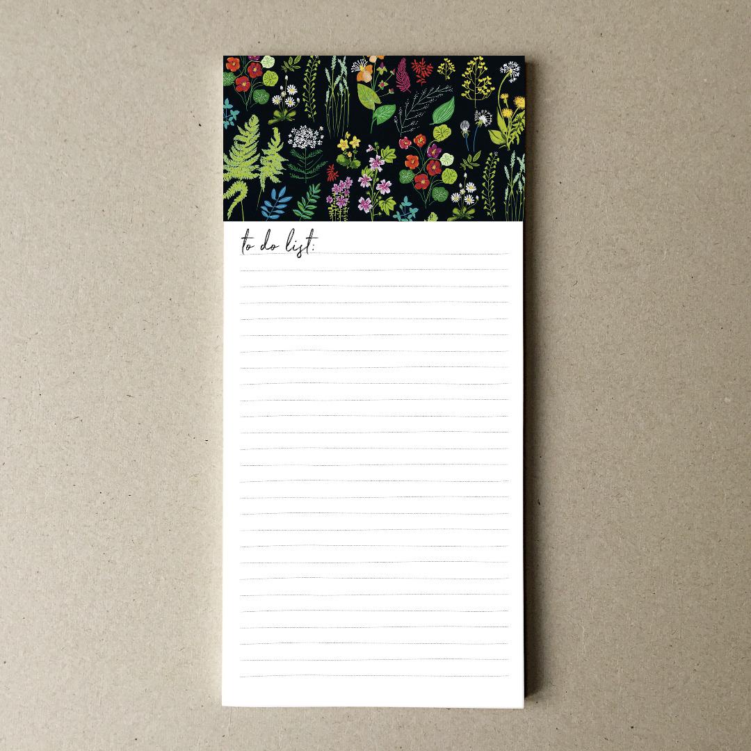 Notizblock DIN lang, Wald und Wiesenblumen - 1
