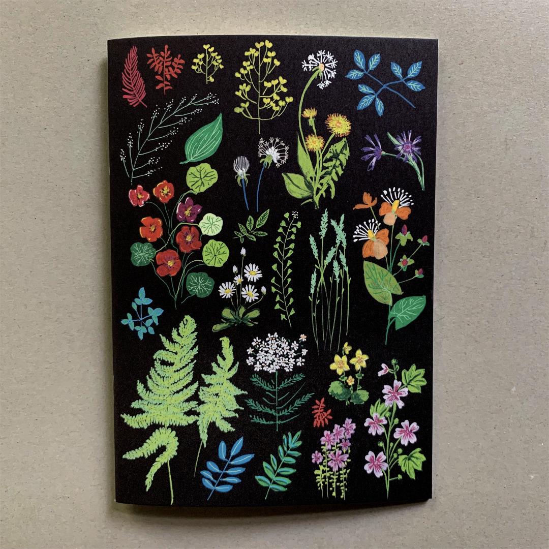 Notizheft DIN A5 Wald und Wiesenblumen