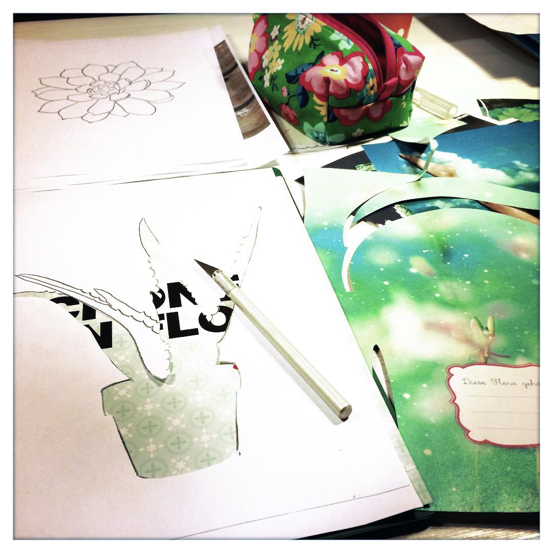Collage Aloevera Kunstdruck Pflanzenposter - 3