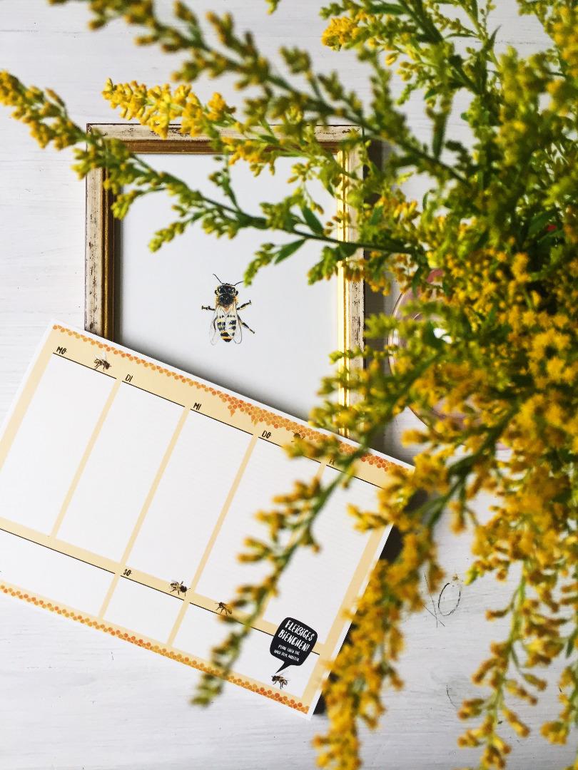 Wochenplaner A5, Fleißiges Bienchen, Block 50 Blatt, Planer - 4