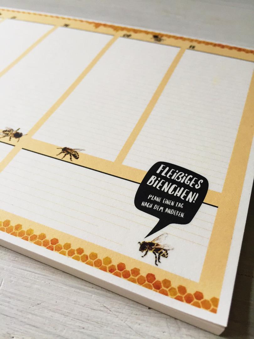 Wochenplaner A5, Fleißiges Bienchen, Block 50 Blatt, Planer - 5