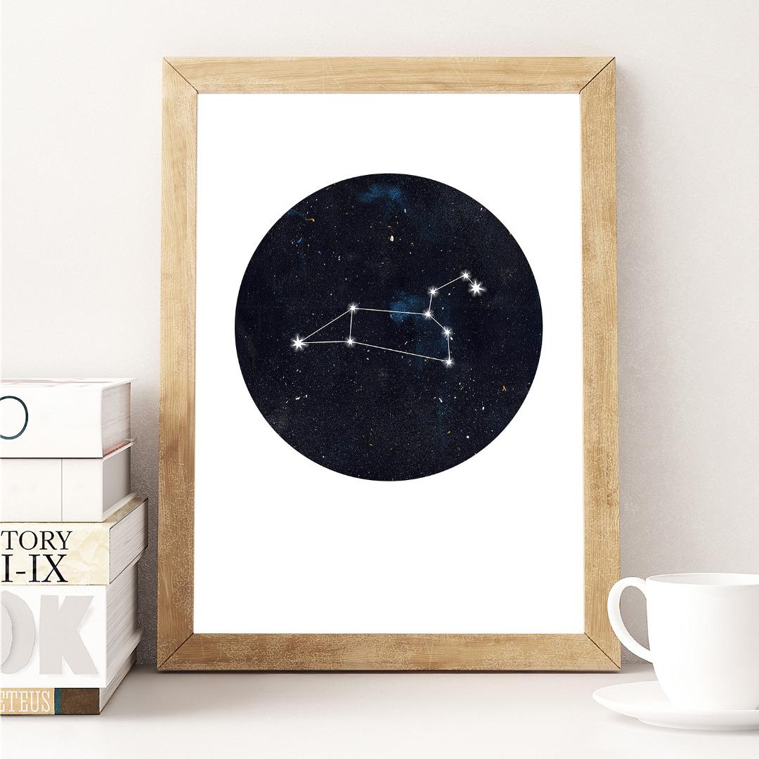 Sternzeichen Löwe Poster Kunstdruck DIN A4