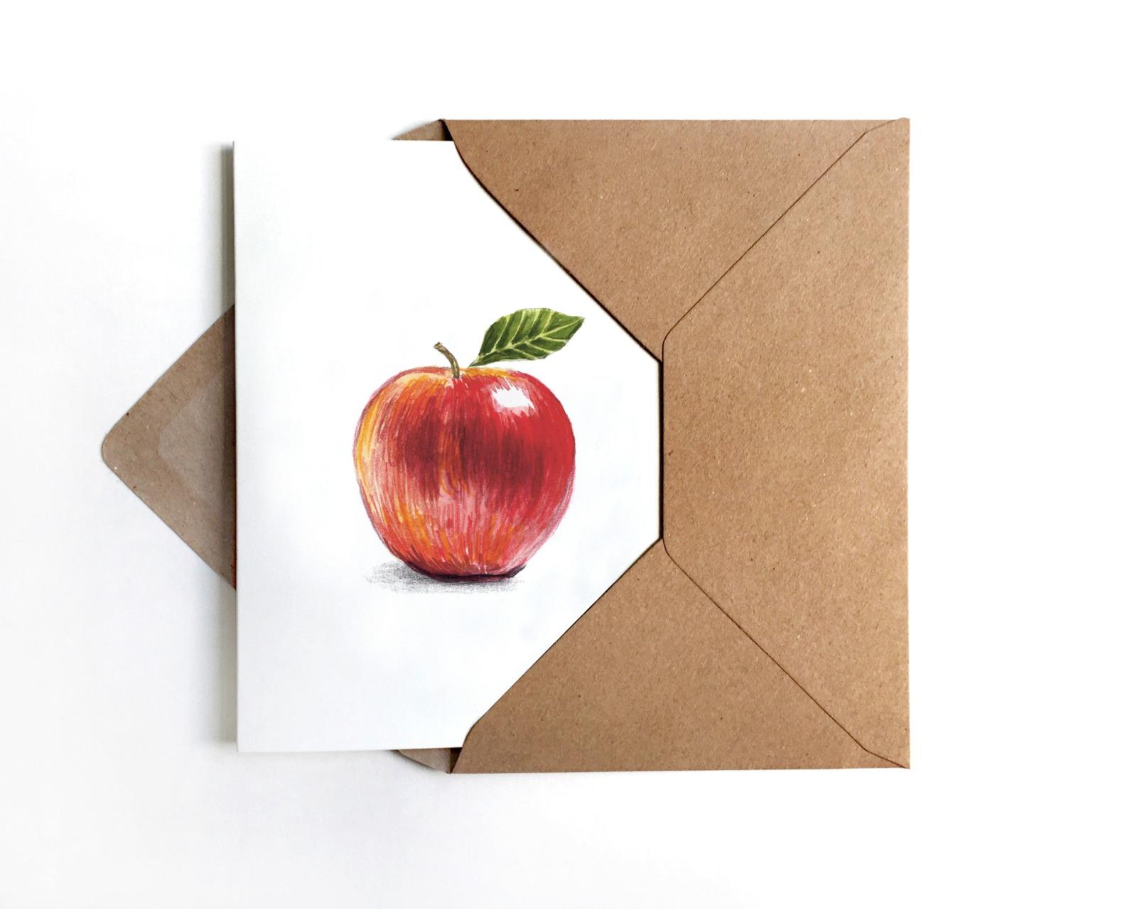 Grußkarte Apfel Apfelkarte