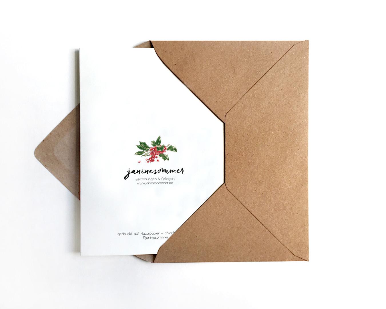 Weihnachtskarte Reh Grußkarte 3