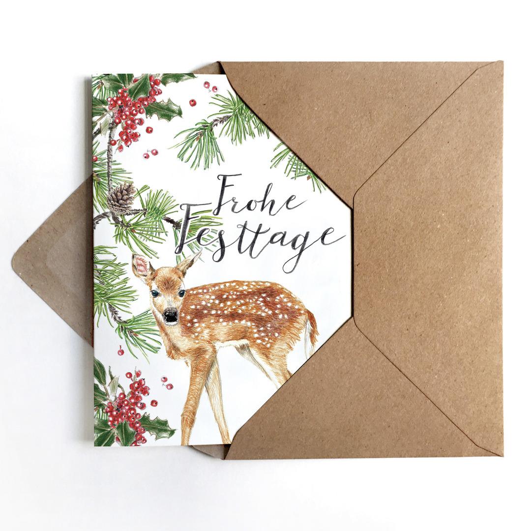 Grußkarten Set Weihnachten Weihnachtskarten 2