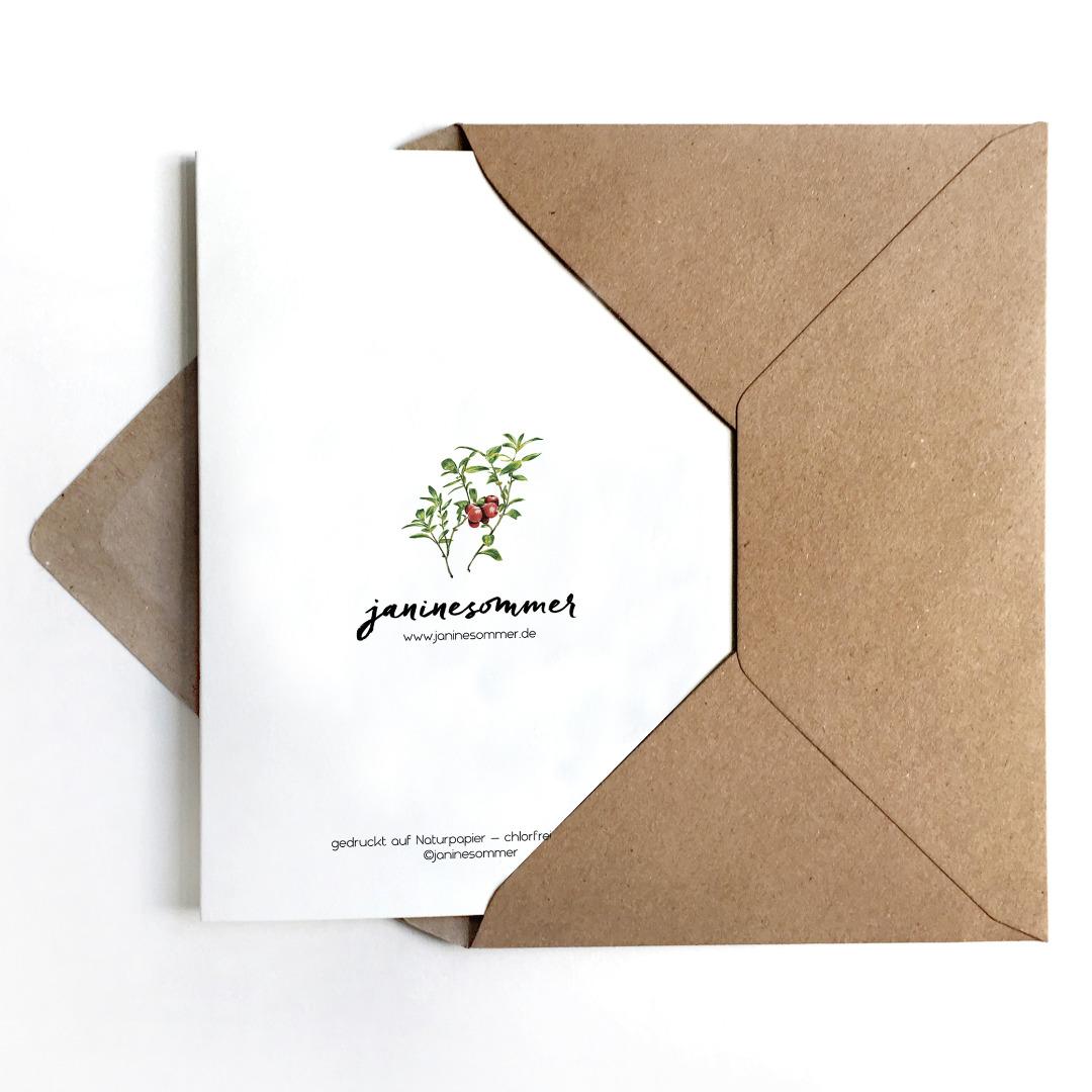 Grußkarte Fliegenpilz, Geburtstagskarte, Karte Viel Glück