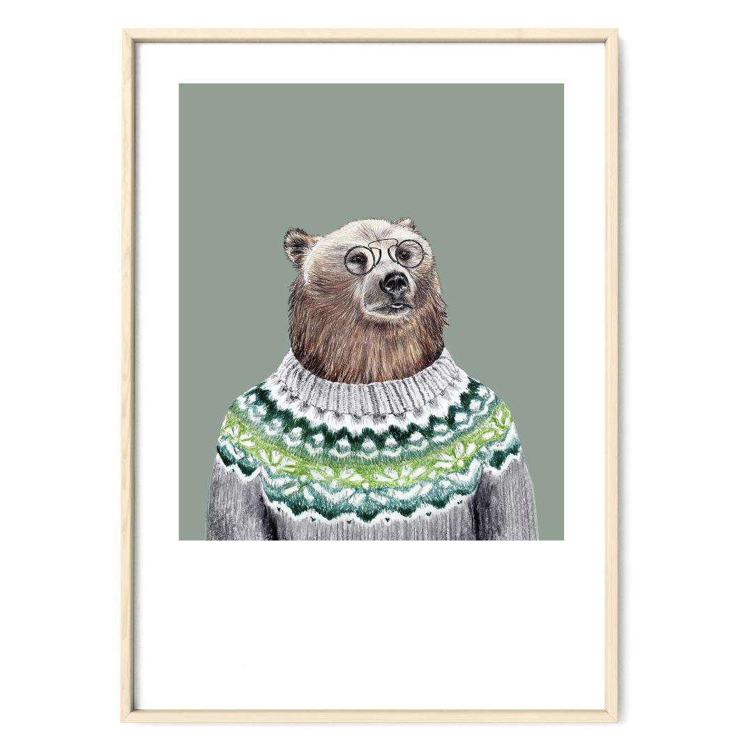 Mein Freund der Bär Poster Kunstdruck