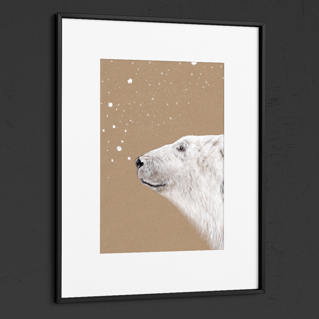 Polarbär Eisbär Poster Kunstdruck 2