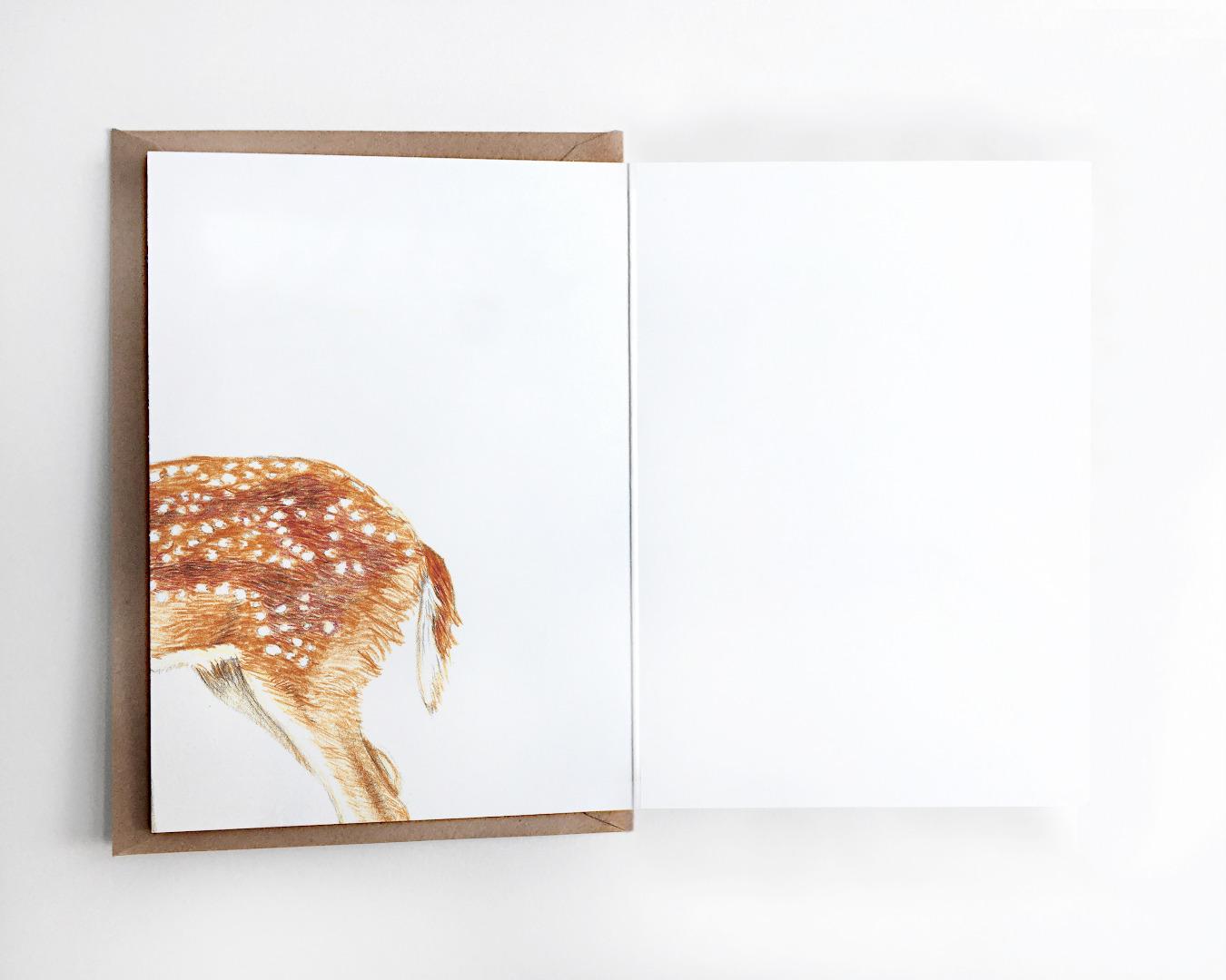 Weihnachtskarte Reh Grußkarte 4