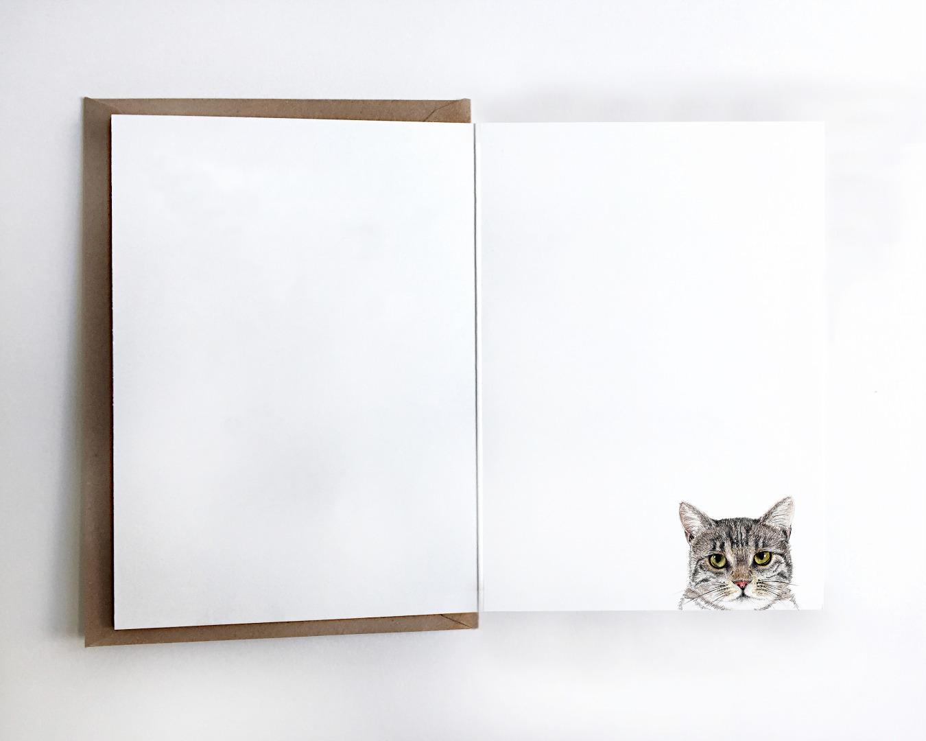 Grußkarte Spacecat, Geburtstagskarte, Karte mit Katze im Weltall - 3