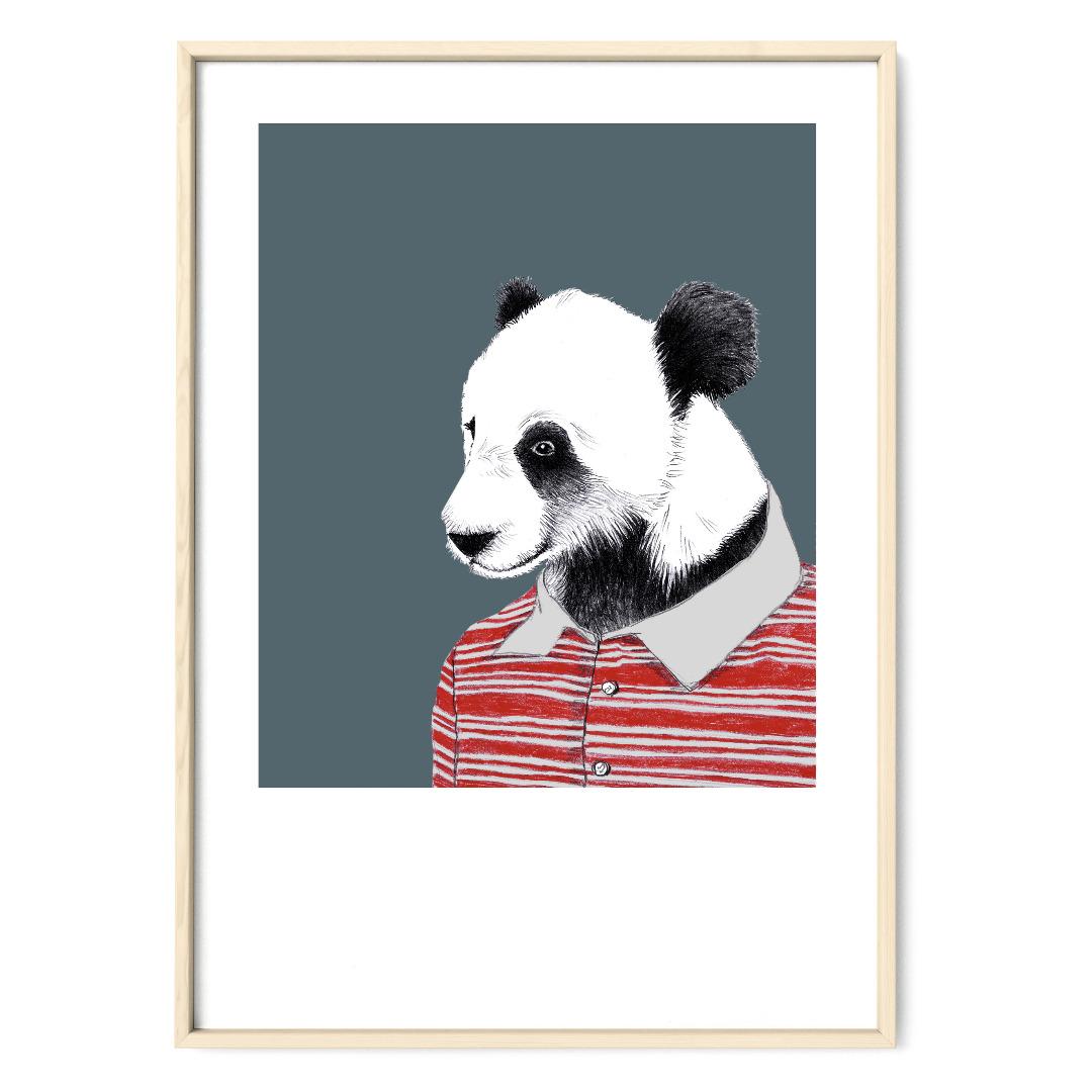 Panda Poster Kunstdruck Tierportrait