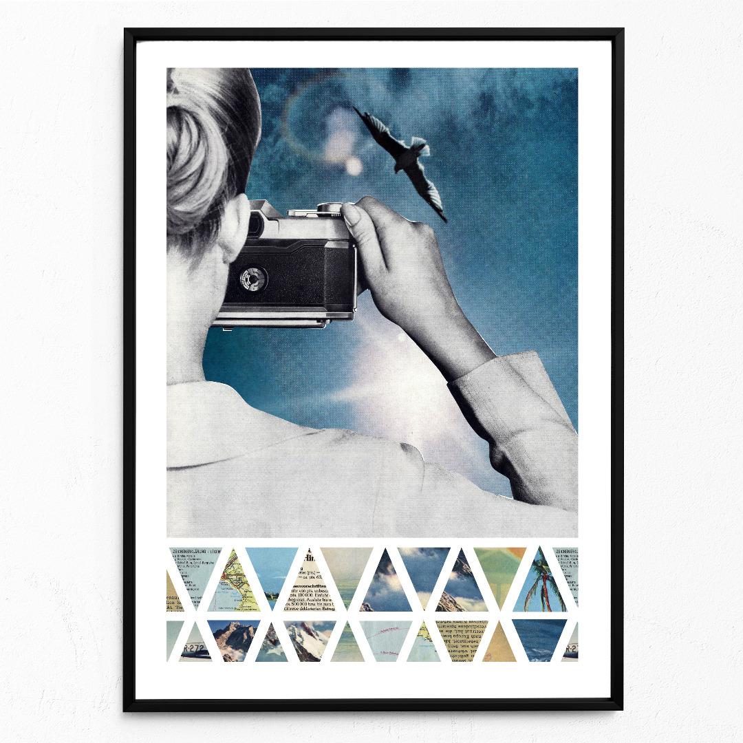 Collage Gegenlicht Poster Collageposter Kunstdruck