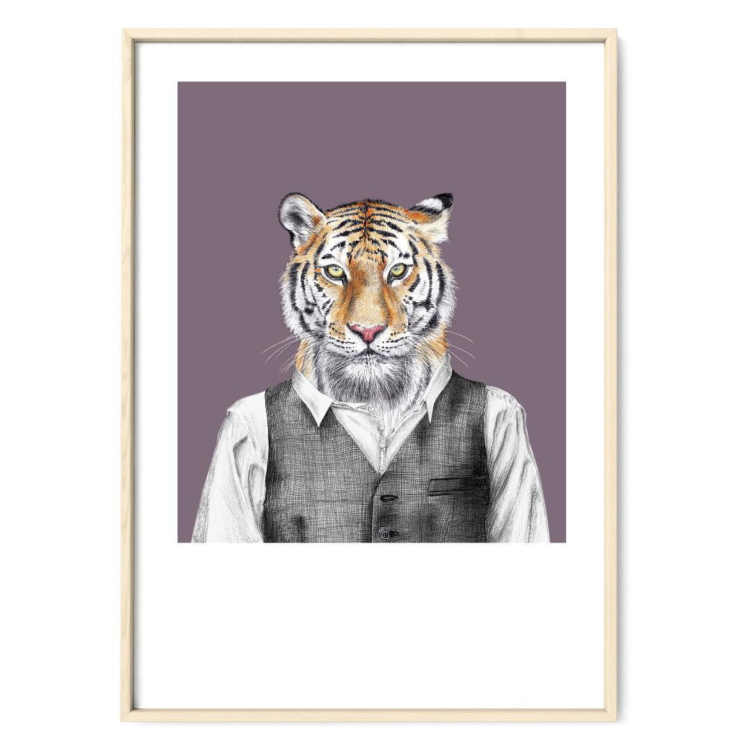 Tiger Poster Kunstdruck DIN A4