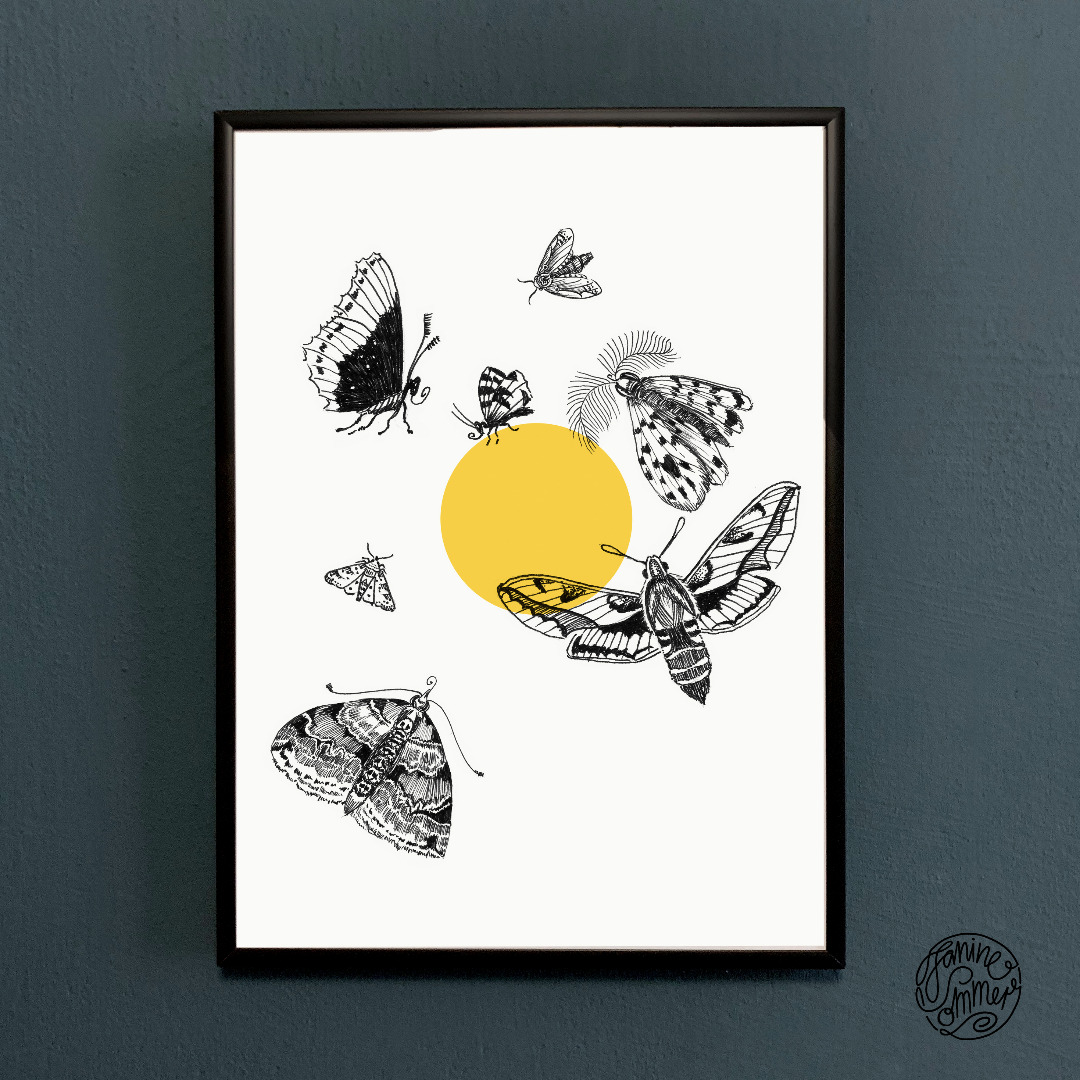 Motten fliegen zum Licht Motten Poster - 2