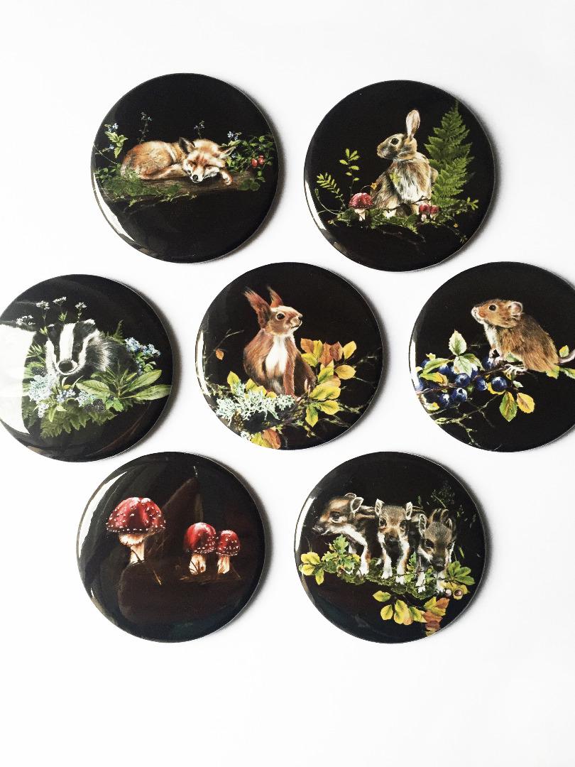 kleiner Taschenspiegel Waldtiere 2