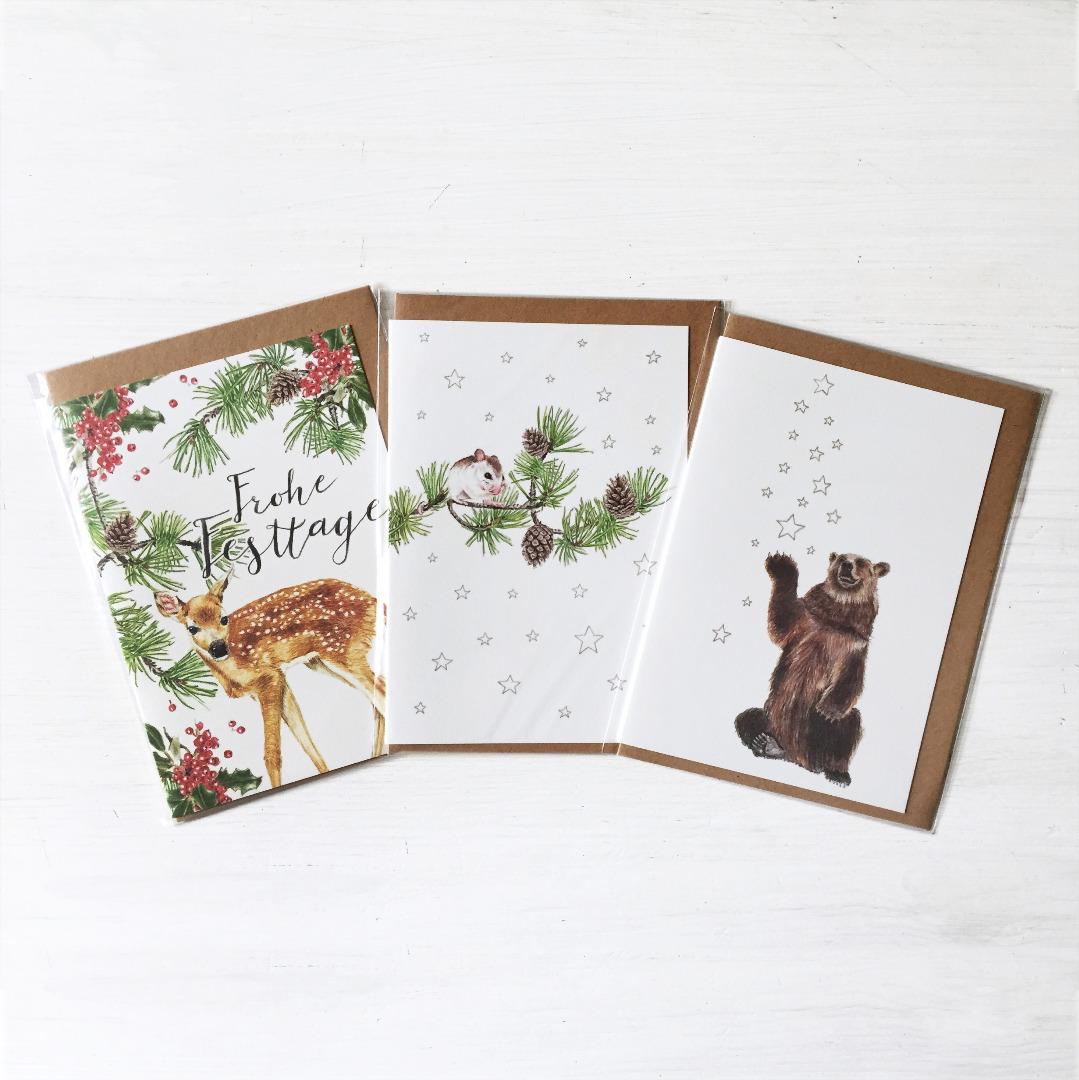 Grußkarten Set Weihnachten Weihnachtskarten