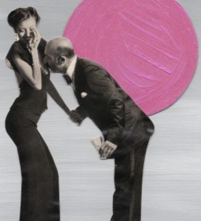 Kuess die Hand Collage Poster Kunstdruck A3 - Collageart