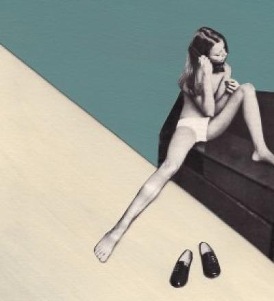 Maedchen mit Haarbuerste Collage Poster Kunstdruck A3 - Collageart
