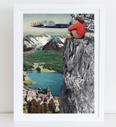 Aussicht Collage Poster Kunstdruck A4
