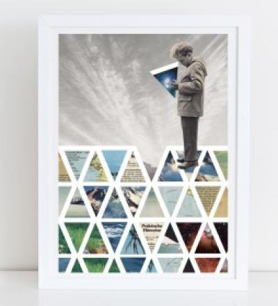Puzzle Collage Poster Kunstdruck A4