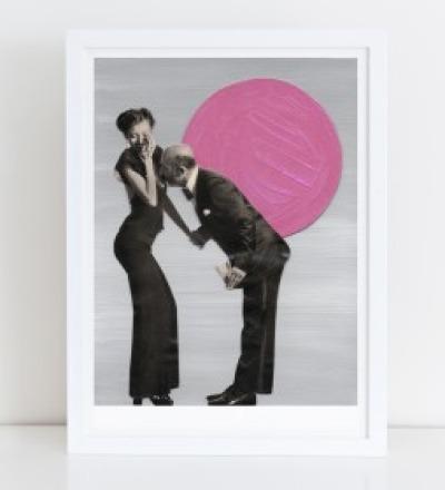 Kuess die Hand Collage Poster Kunstdruck A4