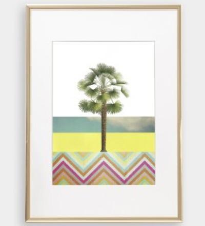 Palme 03 Collage Poster Palme Kunstdruck Palmenposter Pflanzenposter - Collage
