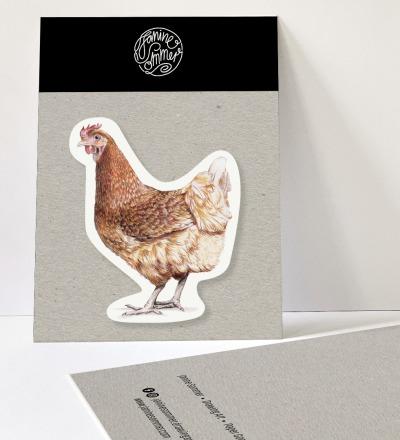 Sticker Huhn Aufkleber Huhn Outdooraufkleber vegan