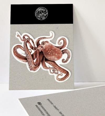 1 Sticker Oktopus - Outdooraufkleber vegan