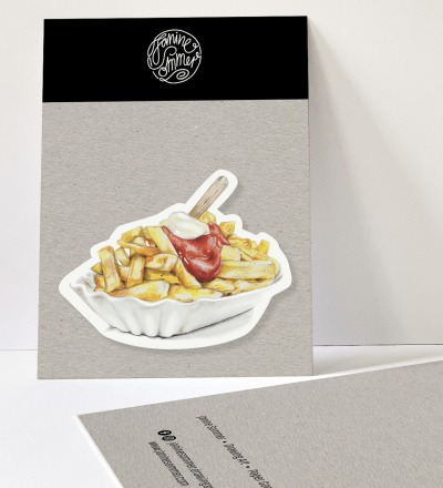 1 Sticker Pommes - Outdooraufkleber vegan