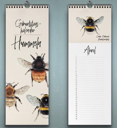 Geburtstagskalender Hummel Wandkalender Kunstkalender Buntstiftzeichnungen von