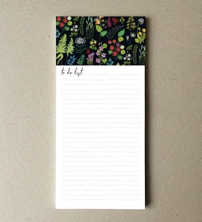 Notizblock Wald und Wiesenblumen Blatt DIN