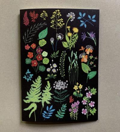 Notizheft Wald und Wiesenblumen Seiten inklusive