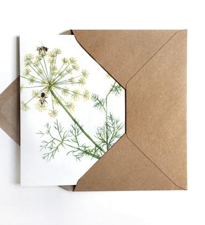 Grußkarte Bienen Kräuter - inkl Umschlag