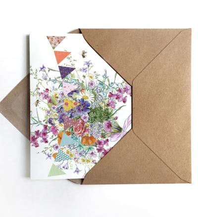 Grußkarte Sommerblumen Glückwunschkarte