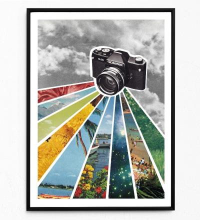 Collage Analog Poster Analofotografie Kunstdruck Collage