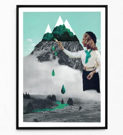 Collage Malerei Poster Collageposter Kunstdruck Collage