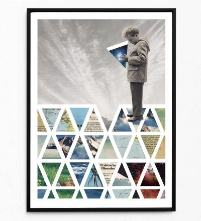 Puzzle Poster Kunstdruck DIN A3 Collage