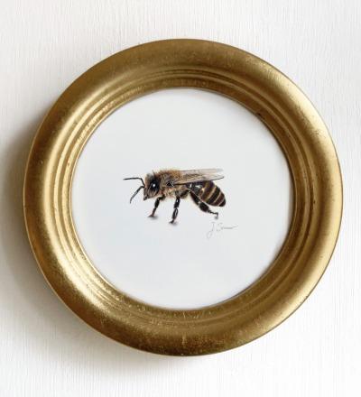 Biene Zeichnung Kunstdruck DIN A5 Art
