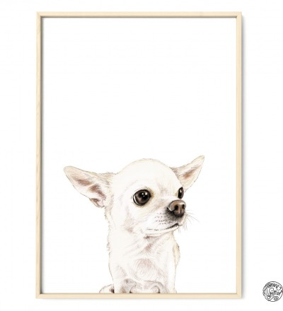 Chihuahua Pepe Poster Kunstdruck Hunde Zeichnung