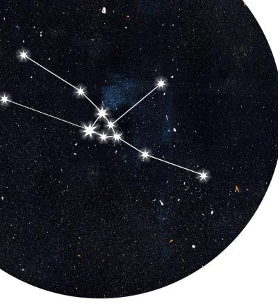 Sternzeichen Stier Poster Kunstdruck DIN A4