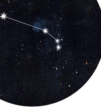 Sternzeichen Widder Poster Kunstdruck DIN A4